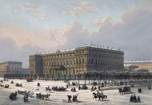 Nicholas Palace in St. Petersburg in the 19th century